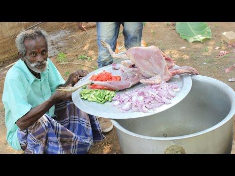 BIG TURKEY Biriyani Prepared by My daddy in my village / village food factory