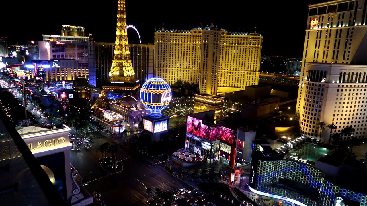 amazing view of the las vegas strip youtube. Black Bedroom Furniture Sets. Home Design Ideas