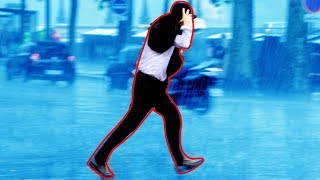 Ist es bei Regen besser zu gehen, oder zu laufen?