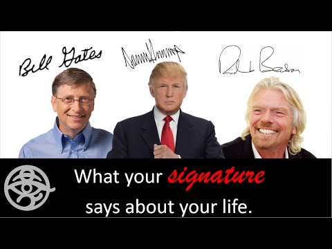 What your signature says about your life