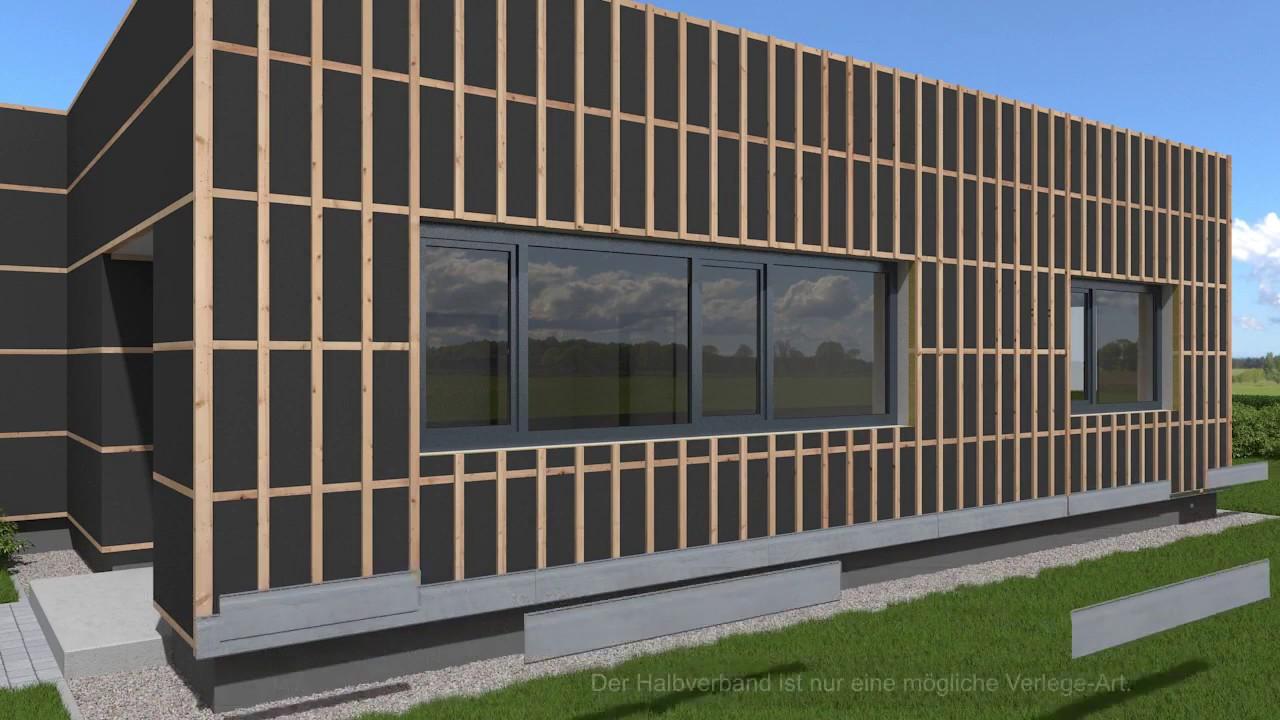 fassadenverkleidung zierer holzoptik montage youtube. Black Bedroom Furniture Sets. Home Design Ideas