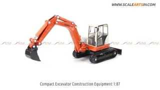 Compact Excavator Construction Equipment 1:87 Diecast Scale Model www.scaleartsin.com