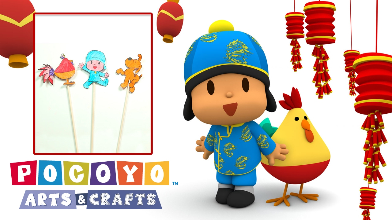 Pocoyo arts crafts ombre cinesi youtube for Youtube art and craft