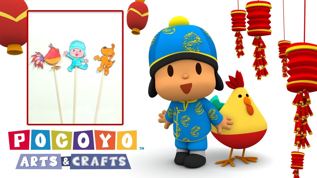 Pocoyo Arts & Crafts: Ombre Cinesi