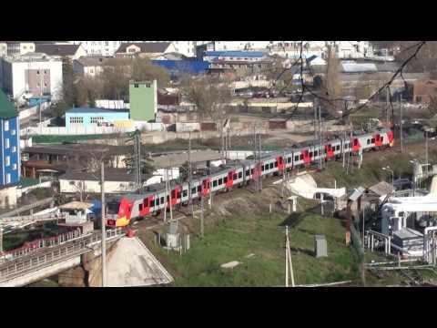 ЭС 1 Ласточка Туапсе-Адлер на Туапсинском мосту