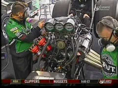 Ron Capps walk through of a Top Fuel Dragster warmup