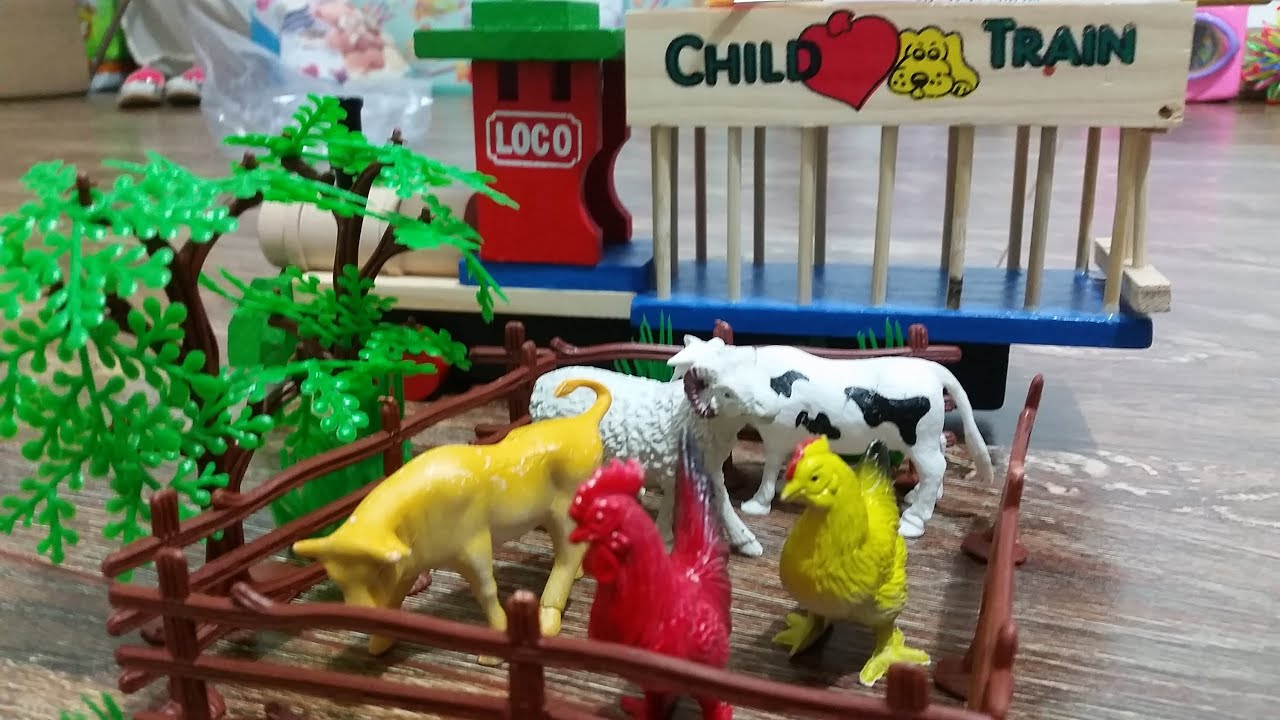 Kids toys surprise Animals for the farm Funny video