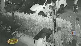 วงจรปิดจับภาพเหตุระทึก โจ๋ราชบุรีชักปืนยิงลูกชายนักธุรกิจดับหน้าร้านเหล้า