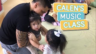 CALEN'S FIRST DAY OF MUSIC CLASS - Alapag Family Fun
