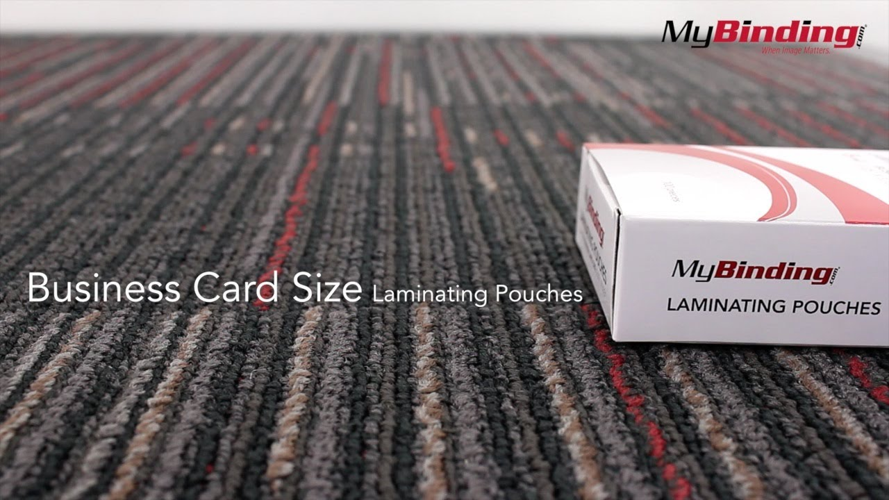 Laminating Pouches - Business Cards Size - YouTube