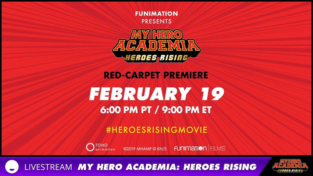 Live My Hero Academia Heroes Rising Red Carpet Coverage Youtube