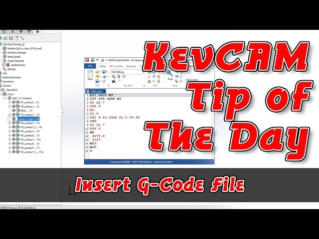 Tip of the Day - Insert G-Code File