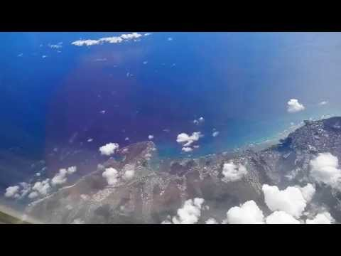 Flying over the Hawaiian islands