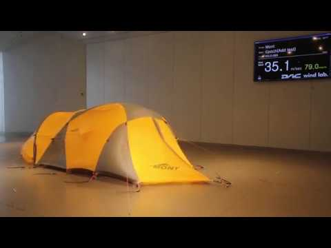 The Mont Epoch Tent at the DAC Wind Lab & The Mont Epoch Tent at the DAC Wind Lab - YouTube