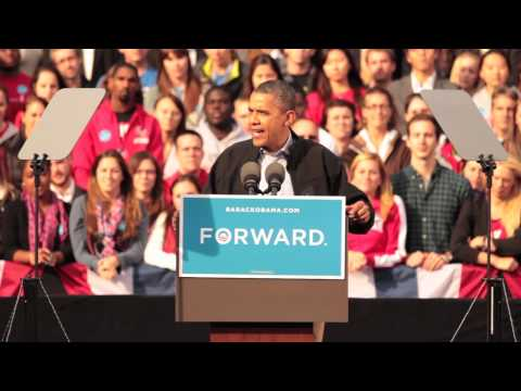 President Obama Visits Bascom Hill on UW Campus