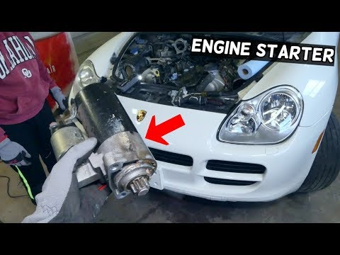 HOW TO REMOVE AND REPLACE STARTER ON PORSCHE CAYENNE