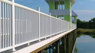 Modern wood plastic picket fence design