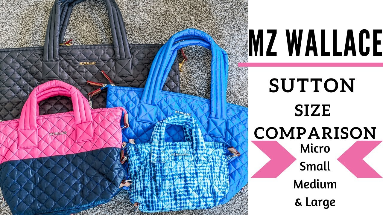MZ Wallace Sutton Size Comparison: Micro, Small, Medium and Large