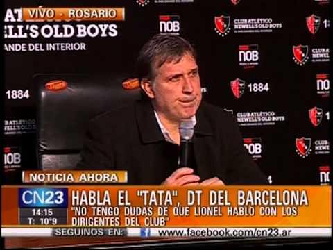 Gerardo Martino. Nuevo técnico de Barcelona. Primera Conferencia en Rosario, Argentina. 23 Jul 2013.