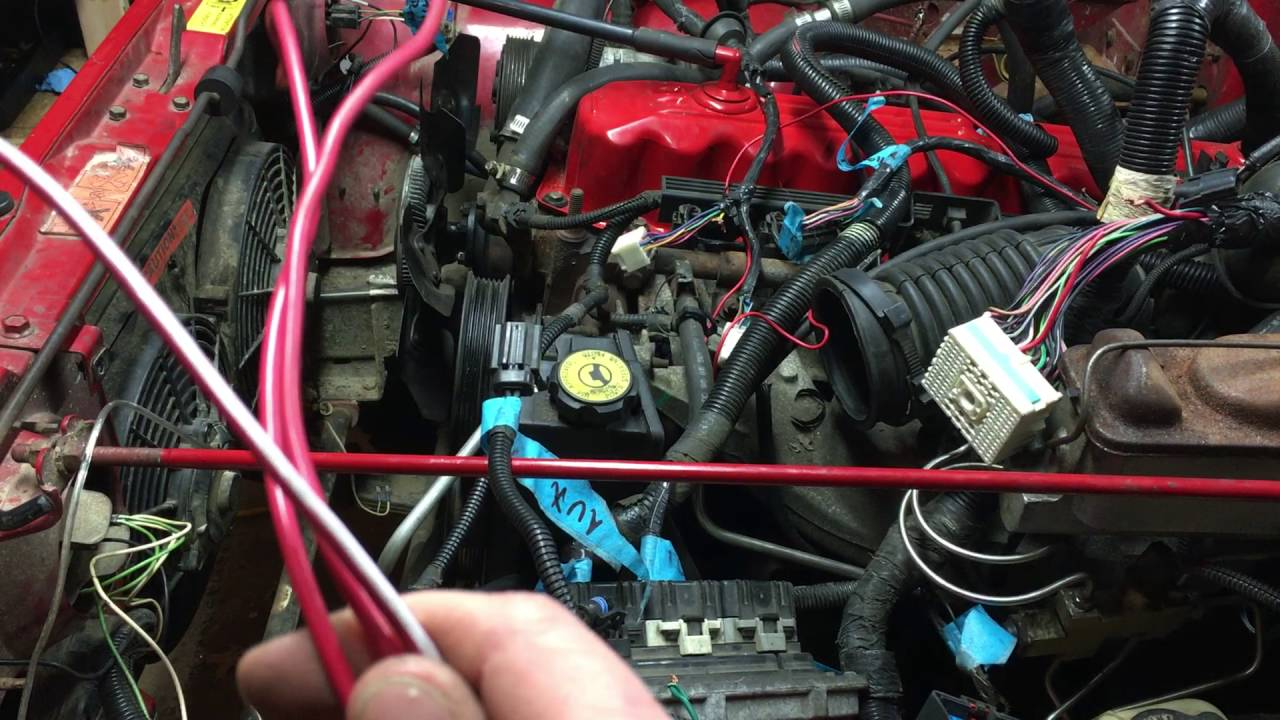 Jeep Yj 4 2 To 4 0 Engine Swap Wiring Part 2
