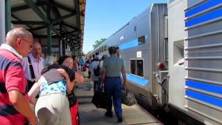 Long Island Rail Road Train 8703 at Speonk on Monday September 7, 2015.