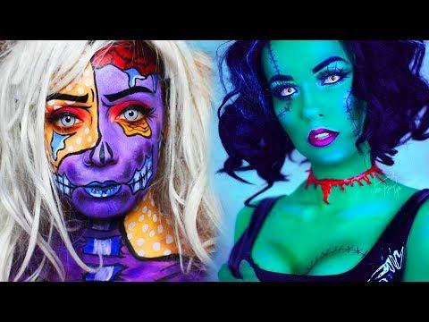 20 Cool DIY Halloween Makeup IDEAS + 3 Last Minute DYI Ideas