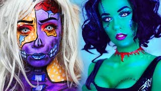 20 Cool DIY Halloween Makeup IDEAS + 3 Last Minute DYI Ideas