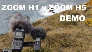 demo del grabador zoom h1 y zoom h5   espaol
