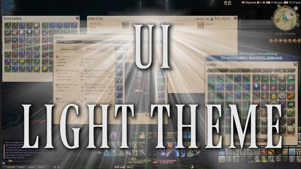 FFXIV: Light Theme UI