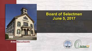 Board of Selectmen 6/5/17