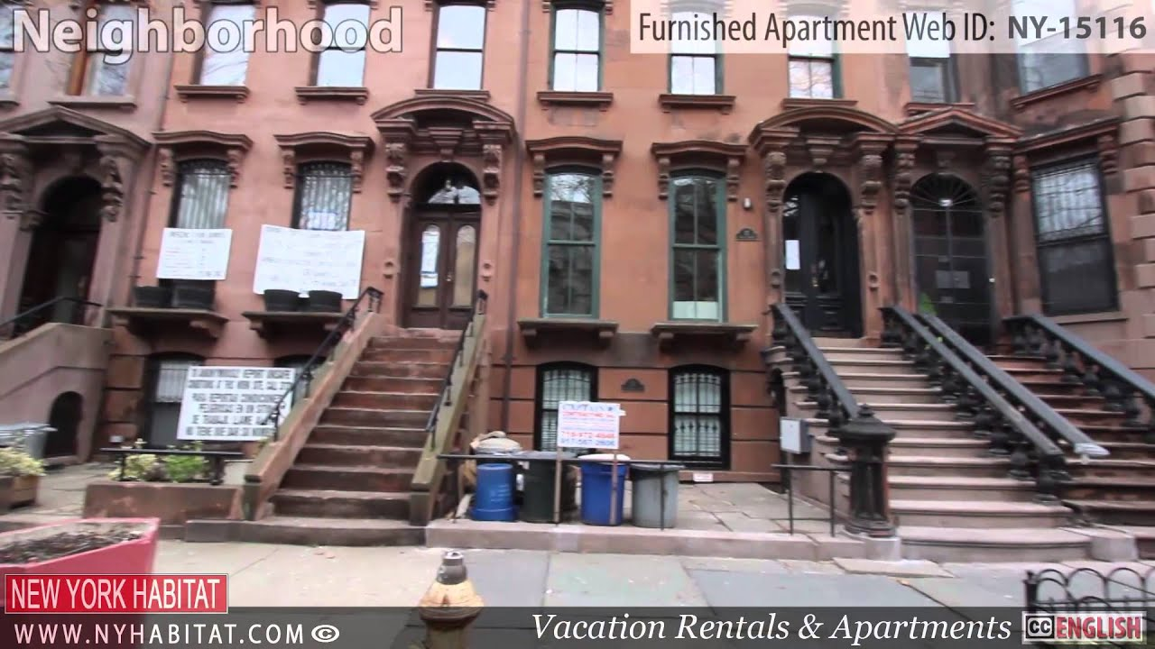 video tour of a 1 bedroom furnished apartment in fort greene