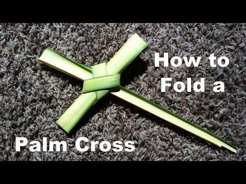 How to Fold a Palm Cross