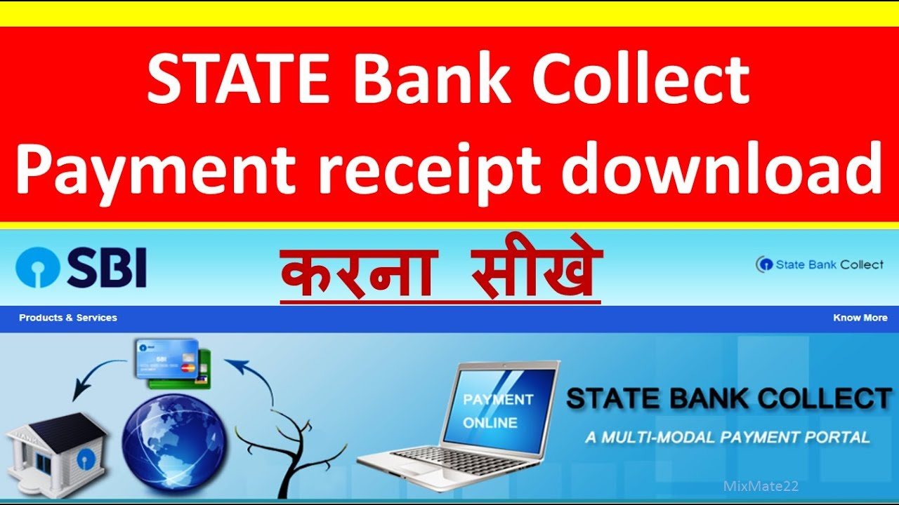 How To Download State Bank Collect Receipt After Payment