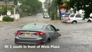 Full Video Compilation of Severe Flooding in Edison NJ 8-2-2017