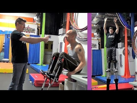 INTRODUCTION TO STILTS WALKING TUTORIAL At New Jersey Circus Center