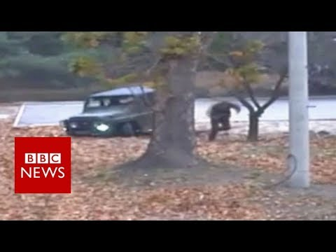 North Korea defection: Footage of moment soldier flees – BBC News