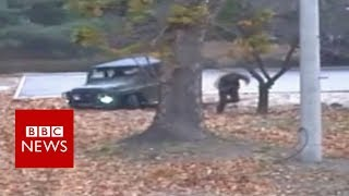 North Korea defection: Footage of moment soldier flees - BBC News