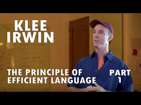 The Principle of Efficient Language - Part 1