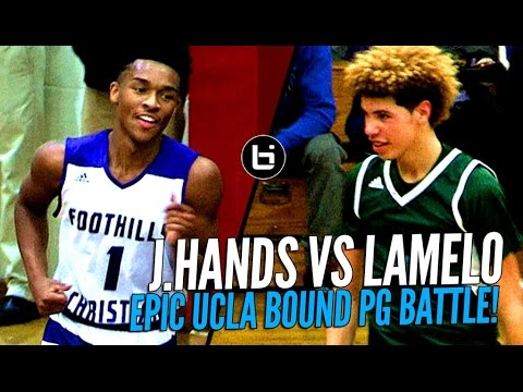 94cabae9b2d LaMelo Ball vs Jaylen Hands! Battle of Future UCLA Point Guards at The  Battlezone!