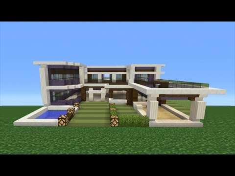 Minecraft Tutorial: How To Make A Modern Mansion - 2 - YouTube