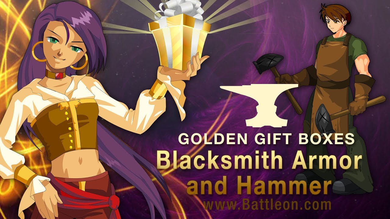 AQ | Adventure Quest | Battleon | Revamped Battleon Inn | Blacksmith Armor  & Hammer GGB