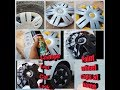 How to paint car wheels cap at home..coustom paint