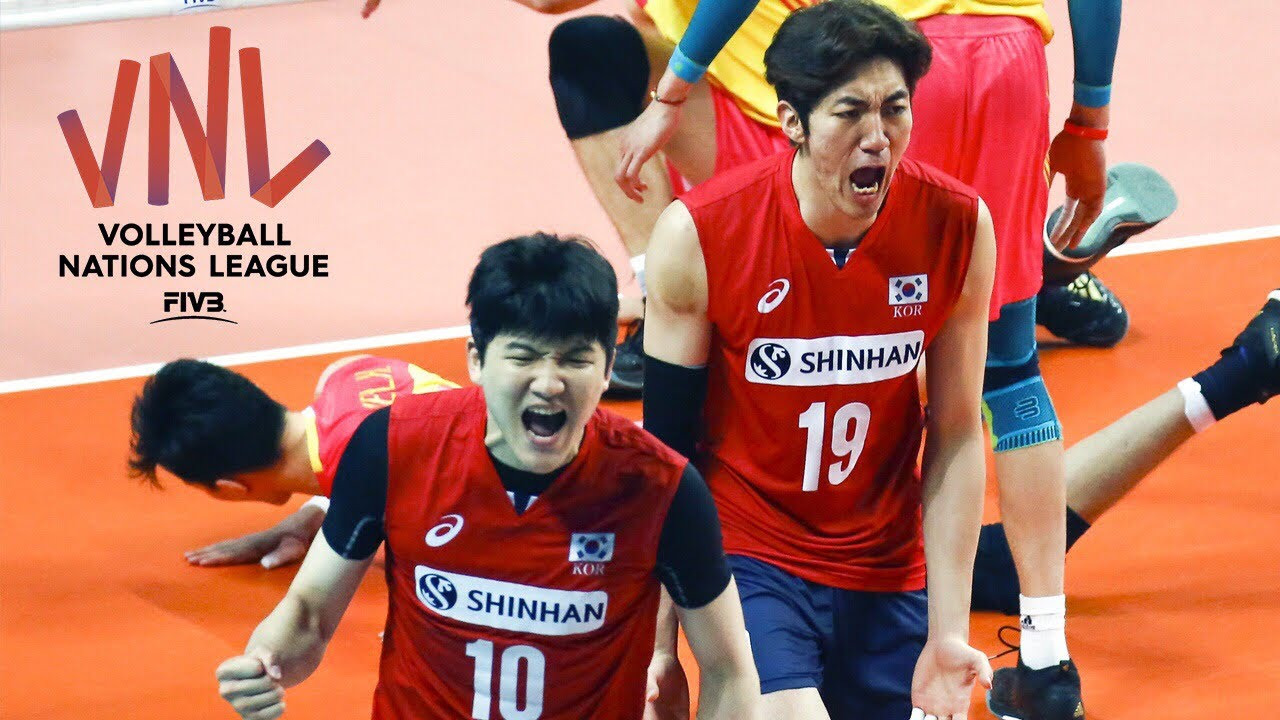 Korea National Volleyball Team Unbelievable Moments Vnl 2018 Youtube