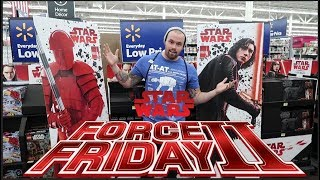 STAR WARS FORCE FRIDAY TOY HUNT 2017!! TARGET, WALMART, TOYS R US HAUL!!!