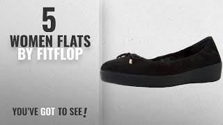 169148563a26 Top 5 Fitflop Women Flats 2018 Fitflop Womens Superbendy Ballerinas Shoe  Black Suede 7 Bm Us