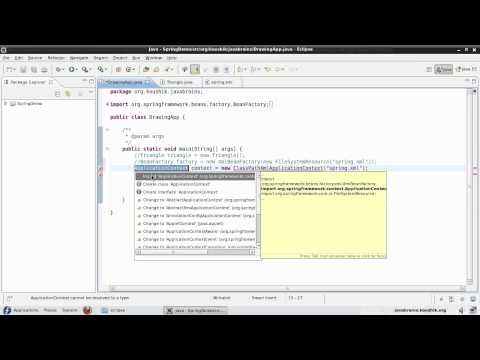 Spring Tutorial 05 - ApplicationContext and Property Initialization