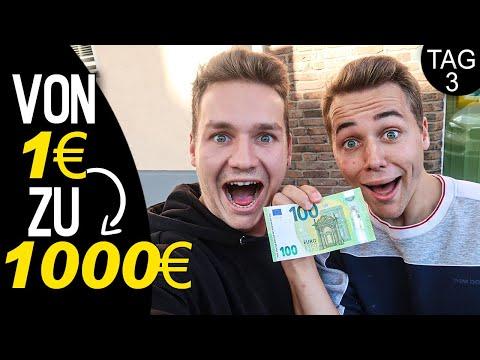 Von 1€ zu 1000€ (Tag 3) | Max und Chris