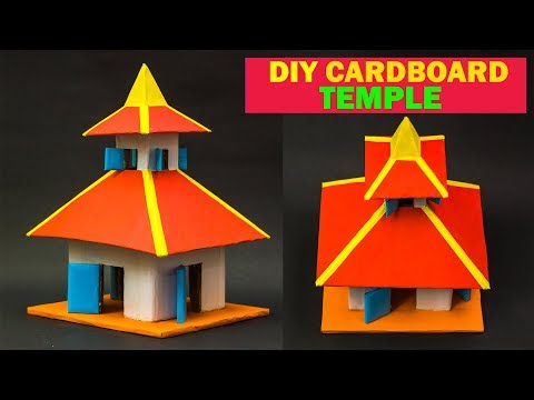 DIY Cardboard Temple | How To Make Cardboard Temple