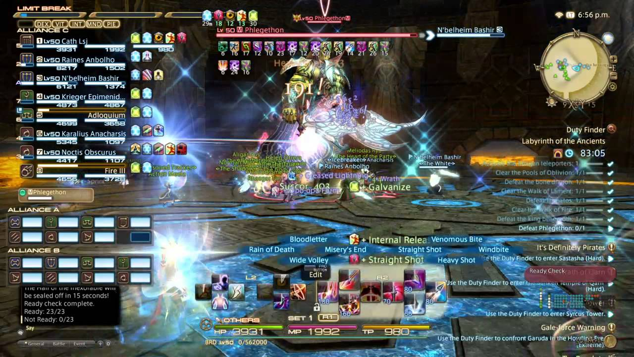PS4 FFXIV: A Realm Reborn - 24-players Raid - Labyrinth of the Ancients  (Parte 3) Cath Lsj