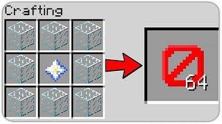 HOW TO CRAFT INVISIBLE BLOCK in MINECRAFT? SECRET RECIPE